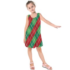 Christmas Triangle Kids  Sleeveless Dress by AnjaniArt