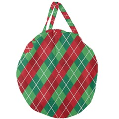 Christmas Triangle Giant Round Zipper Tote by AnjaniArt