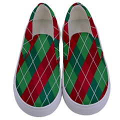 Christmas Triangle Kids  Canvas Slip Ons