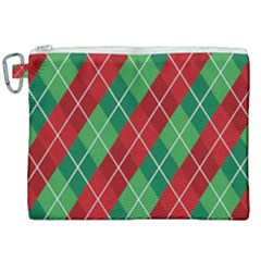 Christmas Triangle Canvas Cosmetic Bag (xxl) by AnjaniArt