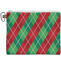 Christmas Triangle Canvas Cosmetic Bag (xxxl) by AnjaniArt