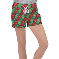 Christmas Triangle Women s Velour Lounge Shorts