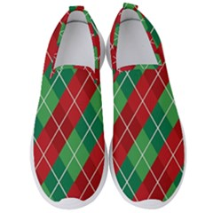 Christmas Triangle Men s Slip On Sneakers by AnjaniArt