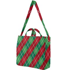 Christmas Triangle Square Shoulder Tote Bag
