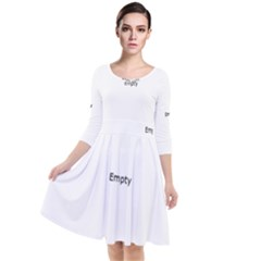 Vintage Low Light Photography Of Books Quarter Sleeve Waist Band Dress