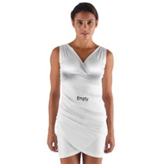 Piamonte Landscape From Car Point Of View, Italy Wrap Front Bodycon Dress
