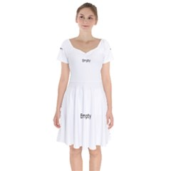 Piamonte Landscape From Car Point Of View, Italy Short Sleeve Bardot Dress