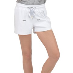 Bright Modern Interlace Pattern Women s Velour Lounge Shorts