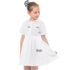 Bright Modern Interlace Pattern Kids  Sailor Dress