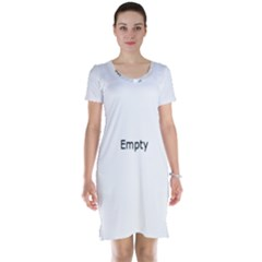 Radial Blur Estiq Spiral Short Sleeve Nightdress