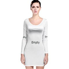 Radial Blur Estiq Spiral Long Sleeve Velvet Bodycon Dress