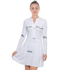 Radial Blur Estiq Spiral Long Sleeve Panel Dress