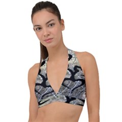 Black Love Browning Deer Camo Halter Plunge Bikini Top