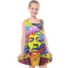 Jimi Hendrix Kids  Cross Back Dress