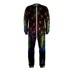 Beautiful Peacock Feather Onepiece Jumpsuit (kids) by Bejoart