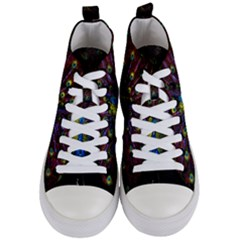 Beautiful Peacock Feather Women s Mid Top Canvas Sneakers