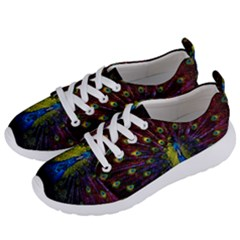 Beautiful Peacock Feather Women s Lightweight Sports Shoes by Bejoart