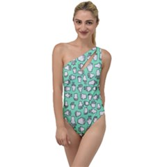 Hand Cute To One Side Swimsuit