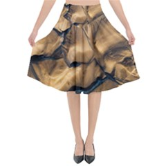 Mud Muddy Flared Midi Skirt by Mariart