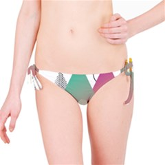 Pink Abstract Triangle Bikini Bottom