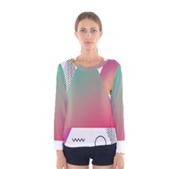 Pink Abstract Triangle Women s Long Sleeve Tee by Jojostore