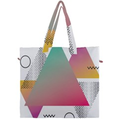 Pink Abstract Triangle Canvas Travel Bag