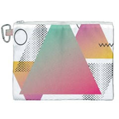 Pink Abstract Triangle Canvas Cosmetic Bag (xxl) by Jojostore
