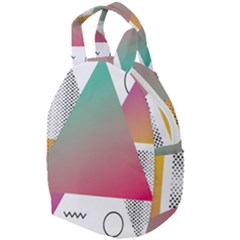 Pink Abstract Triangle Travel Backpacks by Jojostore