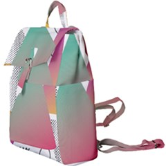 Pink Abstract Triangle Buckle Everyday Backpack