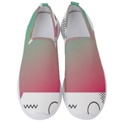 Pink Abstract Triangle Men s Slip On Sneakers by Jojostore
