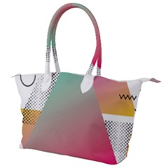 Pink Abstract Triangle Canvas Shoulder Bag