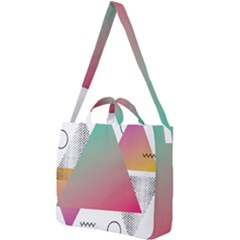 Pink Abstract Triangle Square Shoulder Tote Bag