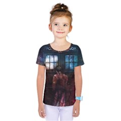 Doctor Who Tardis In Space Kids  One Piece Tee