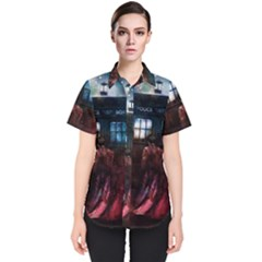 Doctor Who Tardis In Space Women s Short Sleeve Shirt