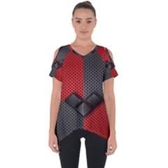 Harley Quinn Black Diamond Cut Out Side Drop Tee