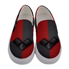 Harley Quinn Black Diamond Women s Canvas Slip Ons