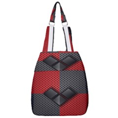 Harley Quinn Black Diamond Center Zip Backpack