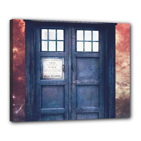 Doctor Who Tardis Canvas 20  X 16  (stretched)