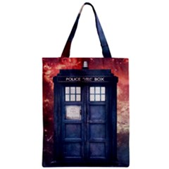 Doctor Who Tardis Zipper Classic Tote Bag