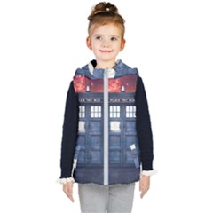 Doctor Who Tardis Kid s Hooded Puffer Vest by Bejoart