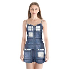 Doctor Who Tardis Satin Pajamas Set by Bejoart