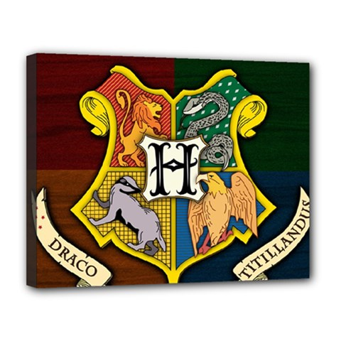Hogwarts Canvas 14  X 11  (stretched)
