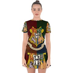Hogwarts Drop Hem Mini Chiffon Dress by Bejoart