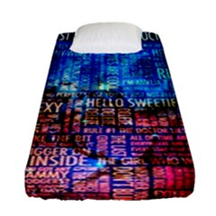 Doctor Who Quotes,trust Me Im Doctor Fitted Sheet (single Size) by Bejoart