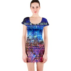 Doctor Who Quotes,trust Me Im Doctor Short Sleeve Bodycon Dress