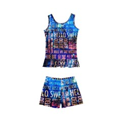 Doctor Who Quotes,trust Me Im Doctor Kid s Boyleg Swimsuit