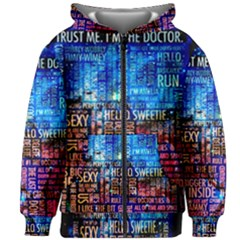 Doctor Who Quotes,trust Me Im Doctor Kids Zipper Hoodie Without Drawstring by Bejoart