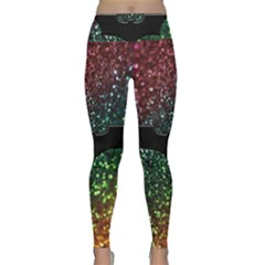 Bat Rainbow Glitter Lightweight Velour Classic Yoga Leggings