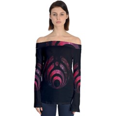 Nectar Galaxy Nebula Off Shoulder Long Sleeve Top