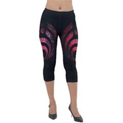Nectar Galaxy Nebula Lightweight Velour Capri Leggings